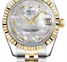 Rolex Datejust 31 Midsize 2tone 18k Gold & SS 178273 Factory Mother-of-Pearl Diamond Dial $2000 USD