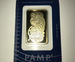 1 Oz Ounce 31.10g PAMP Gold Bullion Bar